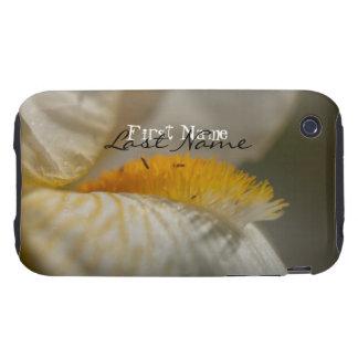 White and Yellow Iris; Customizable Tough iPhone 3 Case