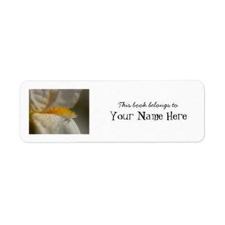 White and Yellow Iris Label
