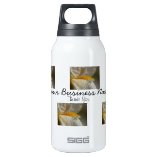 White and Yellow Iris; Promotional Insulated Water Bottle