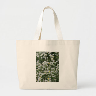 White and Yellow Mini little Daisy Aster flowers Tote Bag