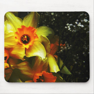 White and Yellow Mouse Pad