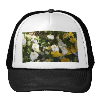 White And Yellow Pansies Hat