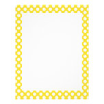 White and Yellow Polka Dot Letterhead Design