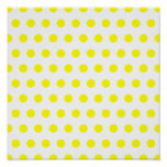 White and Yellow Polka Dot Poster