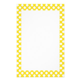 White and Yellow Polka Dot Stationery