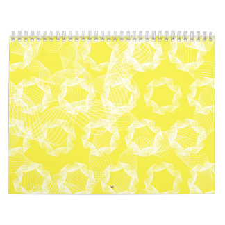 white and yellow ribbons calendar