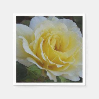 White and Yellow Rose Napkins