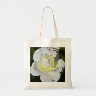 White and Yellow Rose Tote Bag