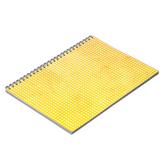 White and Yellow Small Squares Print Notebook