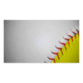 White and Yellow Softball / Baseball Double-Sided Standard Business Cards (Pack Of 100)
