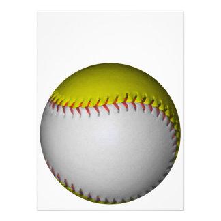 White and Yellow Softball / Baseball Personalized Invites