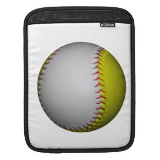 White and Yellow Softball / Baseball Sleeves For iPads