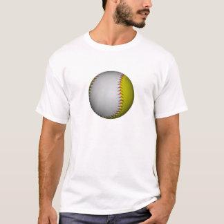 White and Yellow Softball / Baseball T-Shirt