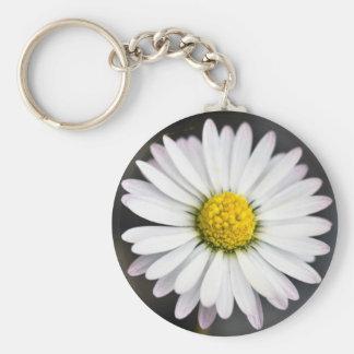 White and Yellow Wild Daisy Keychain