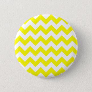 White and Yellow Zigzag Pattern Pinback Button