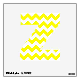 White and Yellow Zigzag Pattern Wall Decal