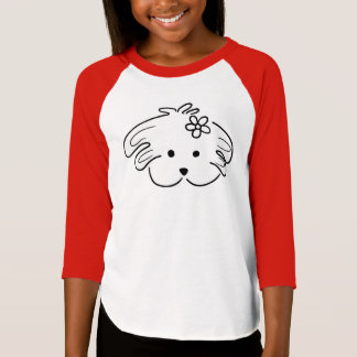White and, young red t-shirt, the world of Lua T-Shirt