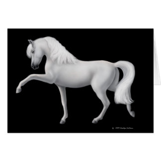White Andalusian Horse Greeting Card