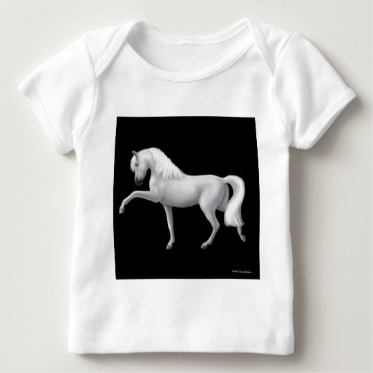 White Andalusian Horse Infant Long Sleeve Baby T-Shirt