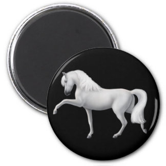 White Andalusian Horse Magnet