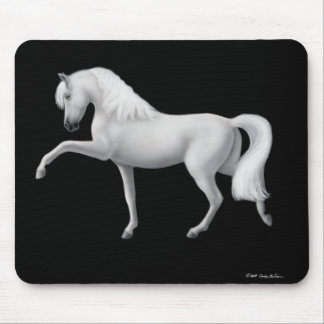 White Andalusian Horse Mousepad