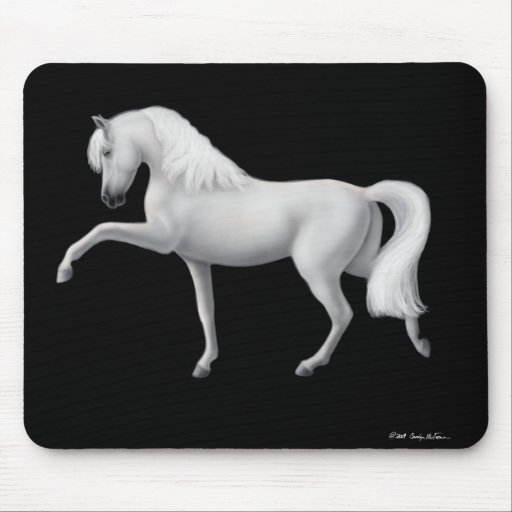 White Andalusian Horse Mousepad