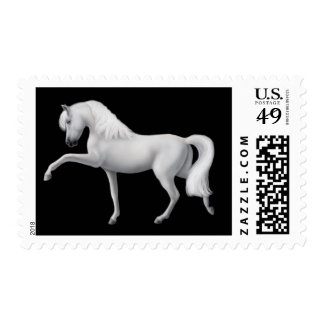 White Andalusian Horse Postage