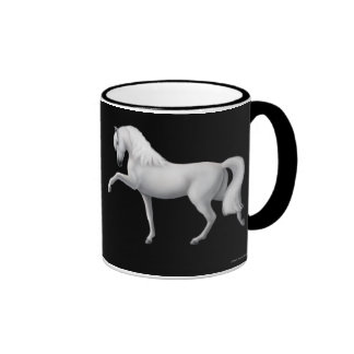 White Andalusian Horse Ringer Mug