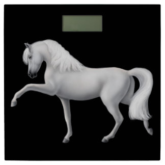 White Andalusian Spanish Horse Bathroom Scale