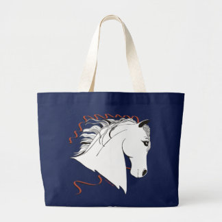 White Andalusian Stallion Tote Bag