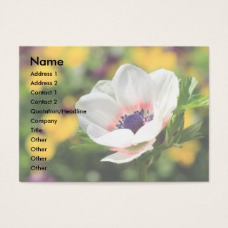 White Anemone Business Card