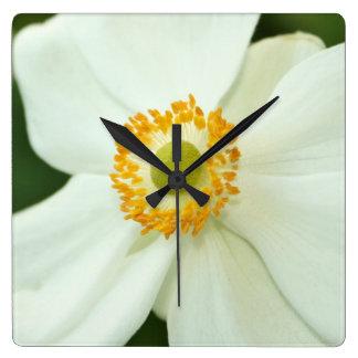 """""""White Anemone"""" Clock"""