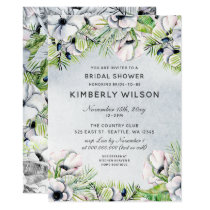 Bridal shower invitation cards at wedding paper love white anemone spring bridal shower invitations filmwisefo