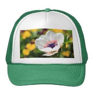White Anemone Trucker Hat
