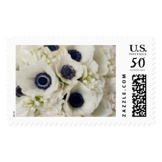 White Anemone Wedding Flowers Stamps