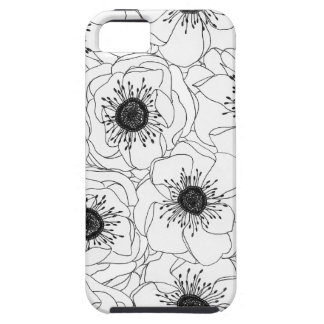 White Anemones iPhone SE/5/5s Case