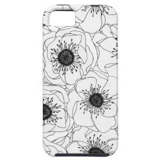 White Anemones iPhone SE/5/5s Case