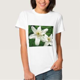 White Anemones Reflection T Shirt