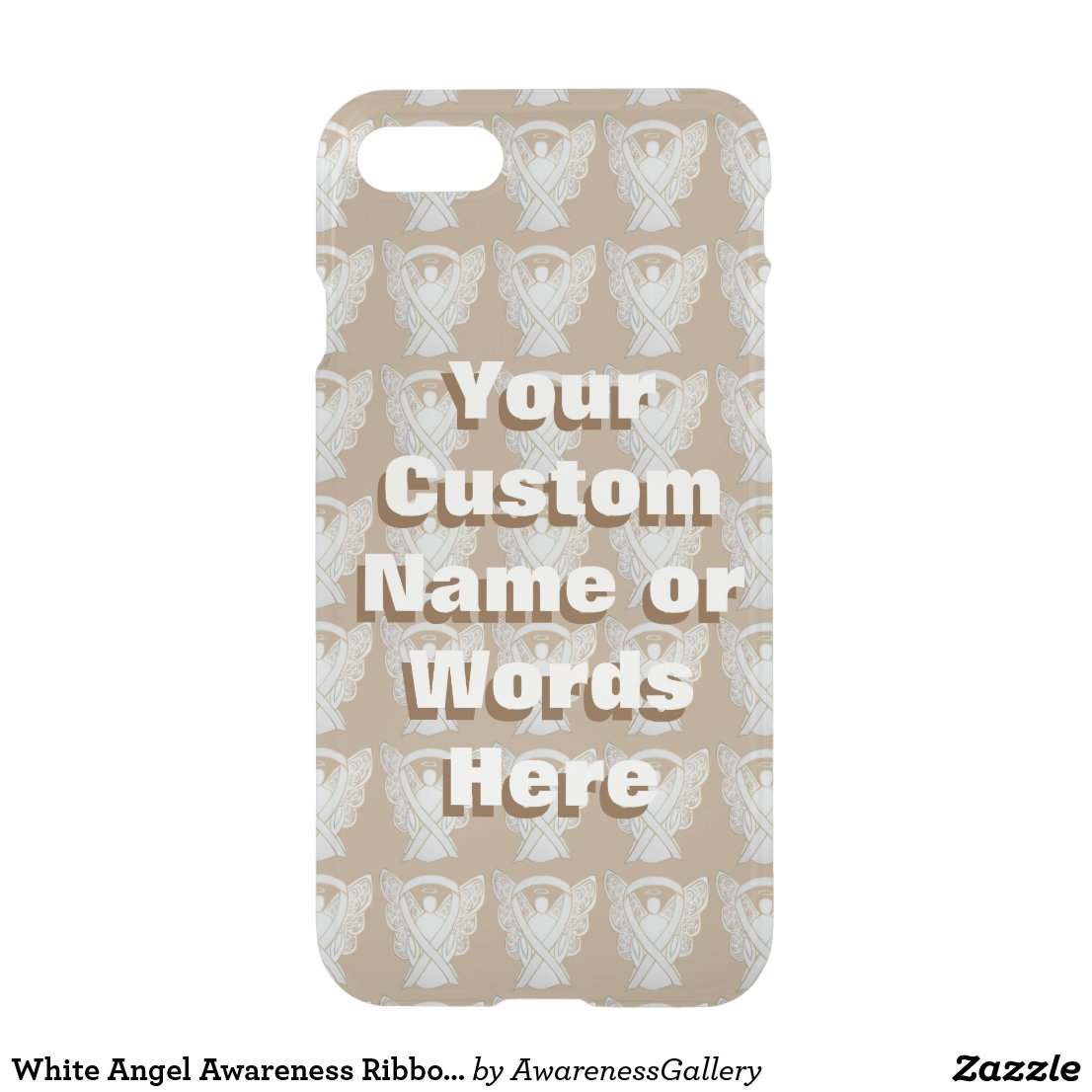 White Angel Child Adoption Awareness Ribbon Custom iPhone Case