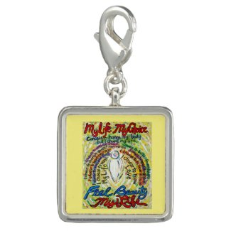 White Angel Cancer Poem Art Pendant Jewelry Charm