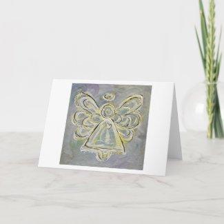 White Angel Greeting Card