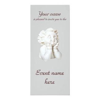 White Angel 10 Cm X 24 Cm Invitation Card