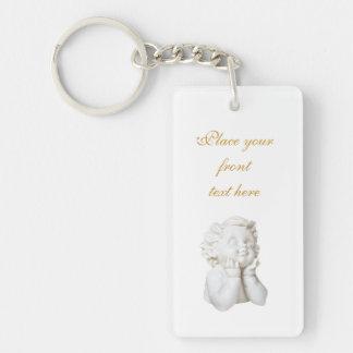 White Angel Keychain