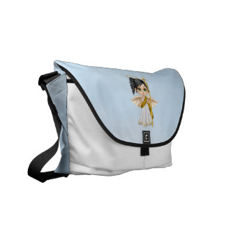 White Angel Pixel Art Courier Bag