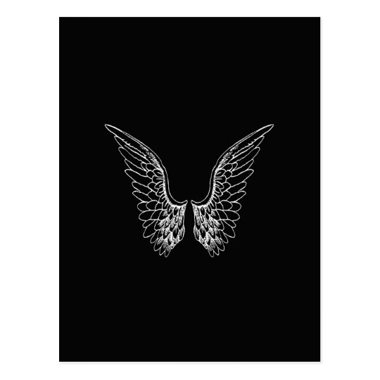 angel wings black background - photo #12