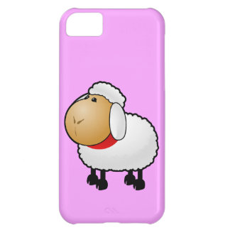 White animated sheep cover for iPhone 5C