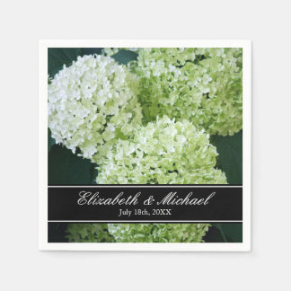 White Annabelle Hydrangeas Wedding Personalized Napkin