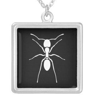 White Ant Pendant Necklace