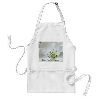 White Apple Blossom Close-Up Adult Apron