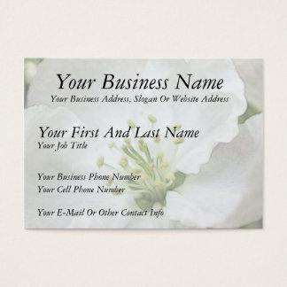 White Apple Blossom Close-Up Business Card